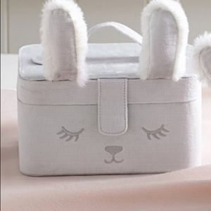 NWT Pottery Barn Kids Bunny Critter Jewelry Case.